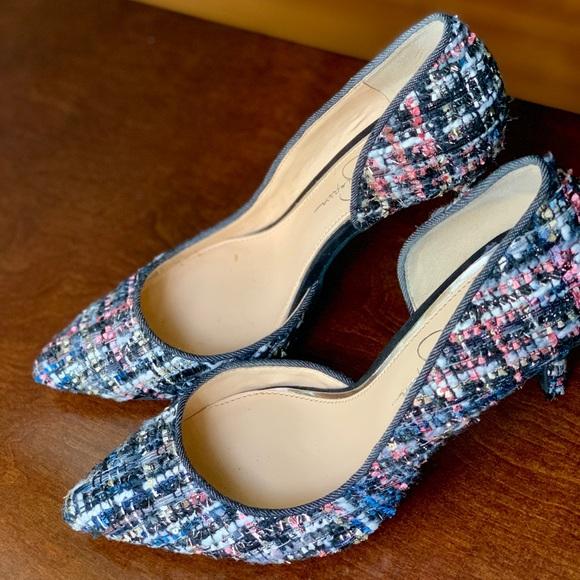Zara Shoes - Jessica Simpson Tweed Heels